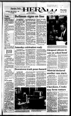 Primary view of Sapulpa Daily Herald (Sapulpa, Okla.), Vol. 76, No. 192, Ed. 1 Thursday, April 26, 1990