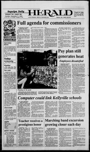 Primary view of Sapulpa Daily Herald (Sapulpa, Okla.), Vol. 80, No. 71, Ed. 1 Sunday, December 5, 1993