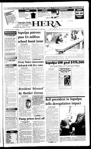 Primary view of Sapulpa Daily Herald (Sapulpa, Okla.), Vol. 82, No. 308, Ed. 1 Wednesday, September 10, 1997
