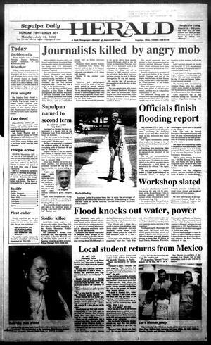Primary view of Sapulpa Daily Herald (Sapulpa, Okla.), Vol. 79, No. 258, Ed. 1 Monday, July 12, 1993