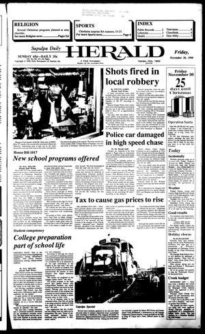 Primary view of Sapulpa Daily Herald (Sapulpa, Okla.), Vol. 77, No. 67, Ed. 1 Friday, November 30, 1990