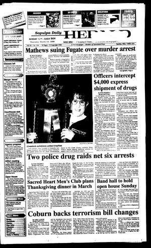 Primary view of Sapulpa Daily Herald (Sapulpa, Okla.), Vol. 82, No. 157, Ed. 1 Thursday, March 14, 1996