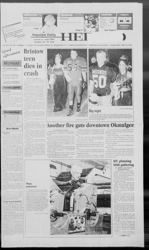 Primary view of Sapulpa Daily Herald (Sapulpa, Okla.), Vol. 85, No. 29, Ed. 1 Monday, October 18, 1999