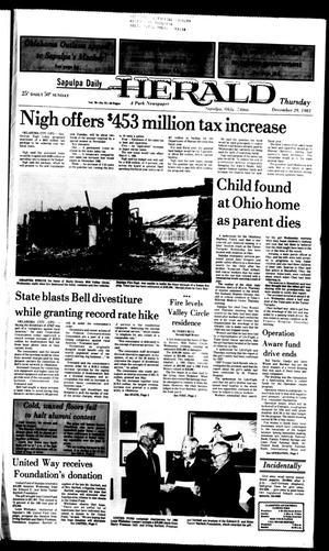 Primary view of Sapulpa Daily Herald (Sapulpa, Okla.), Vol. 70, No. 91, Ed. 1 Thursday, December 29, 1983