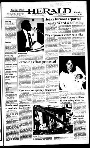 Primary view of Sapulpa Daily Herald (Sapulpa, Okla.), Vol. 78, No. 146, Ed. 1 Tuesday, March 3, 1992