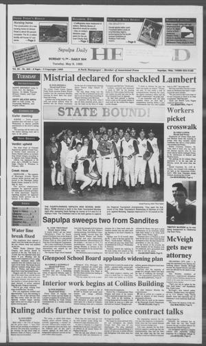 Primary view of Sapulpa Daily Herald (Sapulpa, Okla.), Vol. 81, No. 203, Ed. 1 Tuesday, May 9, 1995