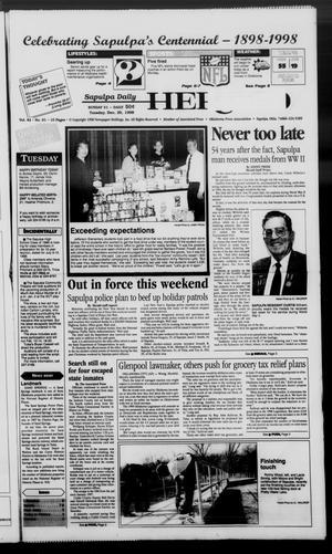 Primary view of Sapulpa Daily Herald (Sapulpa, Okla.), Vol. 84, No. 90, Ed. 1 Tuesday, December 29, 1998