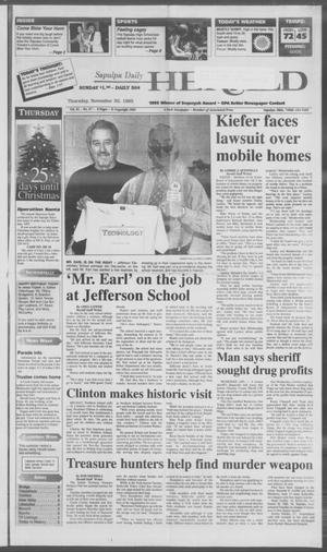 Primary view of Sapulpa Daily Herald (Sapulpa, Okla.), Vol. 82, No. 67, Ed. 1 Thursday, November 30, 1995