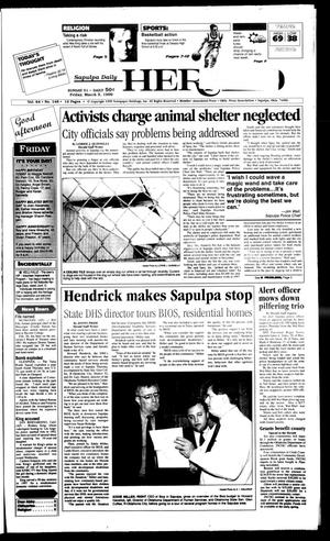 Primary view of object titled 'Sapulpa Daily Herald (Sapulpa, Okla.), Vol. 84, No. 148, Ed. 1 Friday, March 5, 1999'.