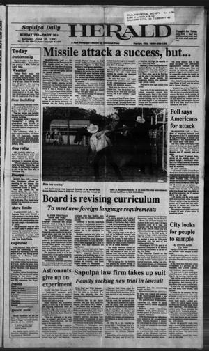 Primary view of Sapulpa Daily Herald (Sapulpa, Okla.), Vol. 79, No. 246, Ed. 1 Monday, June 28, 1993