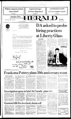 Primary view of Sapulpa Daily Herald (Sapulpa, Okla.), Vol. 69, No. 226, Ed. 1 Friday, June 3, 1983
