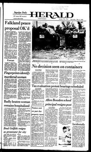 Primary view of Sapulpa Daily Herald (Sapulpa, Okla.), Vol. 68, No. 200, Ed. 1 Thursday, May 6, 1982