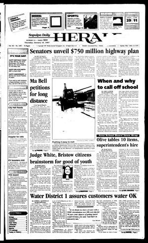 Primary view of Sapulpa Daily Herald (Sapulpa, Okla.), Vol. 82, No. 107, Ed. 1 Thursday, January 16, 1997