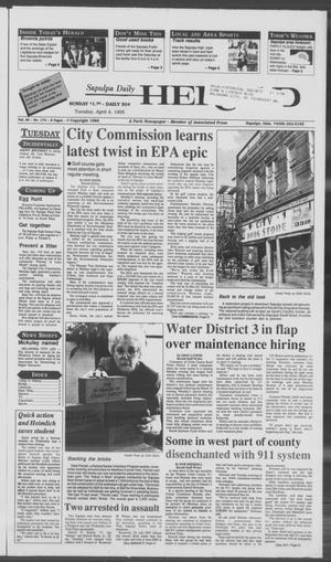 Primary view of Sapulpa Daily Herald (Sapulpa, Okla.), Vol. 81, No. 173, Ed. 1 Tuesday, April 4, 1995