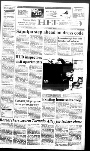 Primary view of Sapulpa Daily Herald (Sapulpa, Okla.), Vol. 81, No. 166, Ed. 1 Monday, March 27, 1995