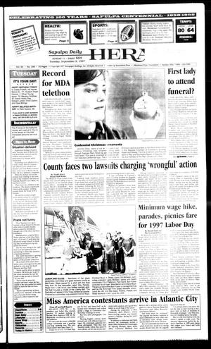 Primary view of Sapulpa Daily Herald (Sapulpa, Okla.), Vol. 82, No. 295, Ed. 1 Tuesday, September 2, 1997