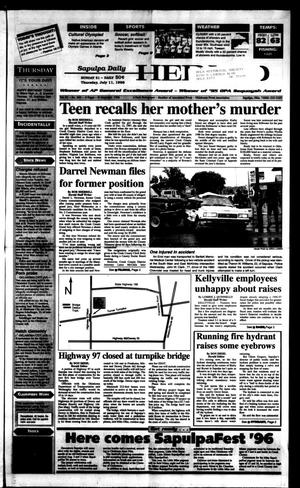 Primary view of Sapulpa Daily Herald (Sapulpa, Okla.), Vol. 81, No. 260, Ed. 1 Thursday, July 11, 1996