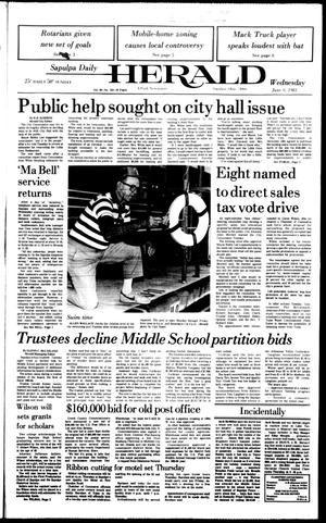 Primary view of Sapulpa Daily Herald (Sapulpa, Okla.), Vol. 69, No. 253, Ed. 1 Wednesday, July 6, 1983