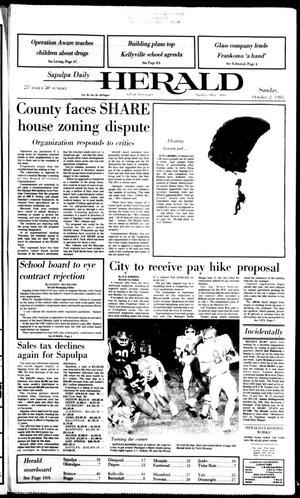Primary view of Sapulpa Daily Herald (Sapulpa, Okla.), Vol. 70, No. 16, Ed. 1 Sunday, October 2, 1983