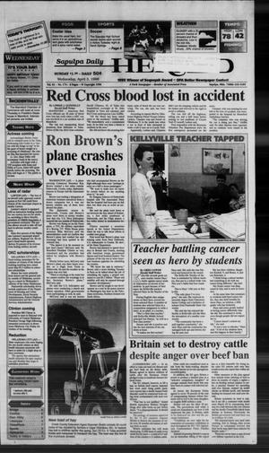 Primary view of Sapulpa Daily Herald (Sapulpa, Okla.), Vol. 81, No. 175, Ed. 1 Wednesday, April 3, 1996