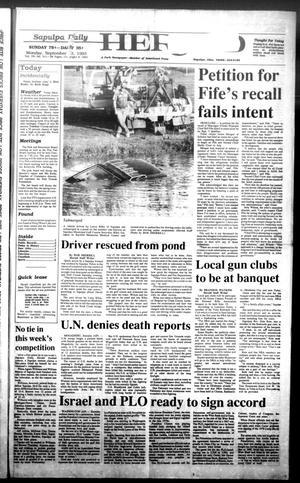 Primary view of Sapulpa Daily Herald (Sapulpa, Okla.), Vol. 79, No. 312, Ed. 1 Monday, September 13, 1993