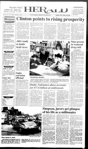 Primary view of Sapulpa Daily Herald (Sapulpa, Okla.), Vol. 81, No. 130, Ed. 1 Monday, February 13, 1995
