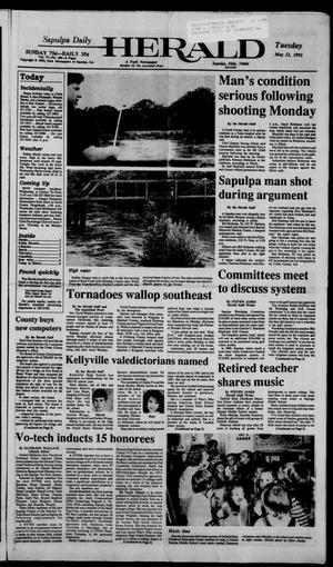 Primary view of Sapulpa Daily Herald (Sapulpa, Okla.), Vol. 78, No. 206, Ed. 1 Tuesday, May 12, 1992