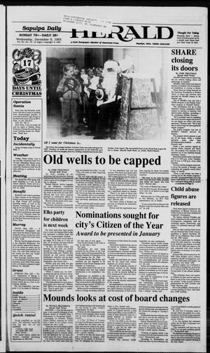Primary view of Sapulpa Daily Herald (Sapulpa, Okla.), Vol. 80, No. 74, Ed. 1 Wednesday, December 8, 1993