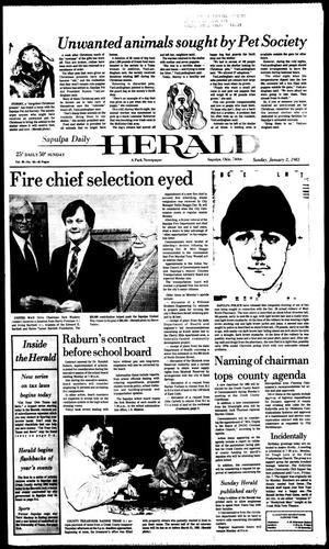 Primary view of Sapulpa Daily Herald (Sapulpa, Okla.), Vol. 69, No. 95, Ed. 1 Sunday, January 2, 1983