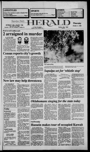 Primary view of Sapulpa Daily Herald (Sapulpa, Okla.), Vol. 77, No. 18, Ed. 1 Thursday, October 4, 1990