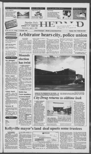 Primary view of Sapulpa Daily Herald (Sapulpa, Okla.), Vol. 81, No. 174, Ed. 1 Wednesday, April 5, 1995