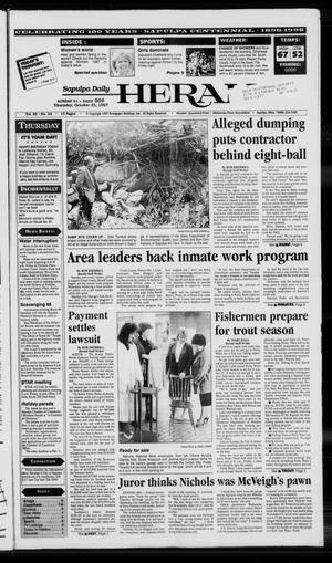 Primary view of Sapulpa Daily Herald (Sapulpa, Okla.), Vol. 83, No. 34, Ed. 1 Thursday, October 23, 1997