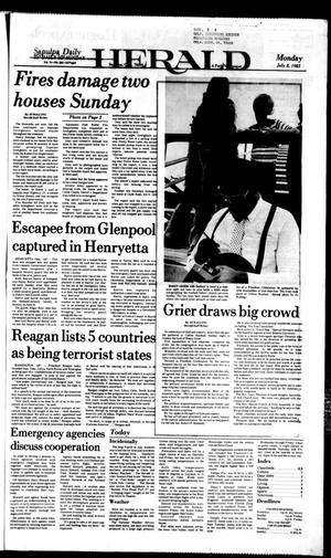 Primary view of Sapulpa Daily Herald (Sapulpa, Okla.), Vol. 71, No. 254, Ed. 1 Monday, July 8, 1985