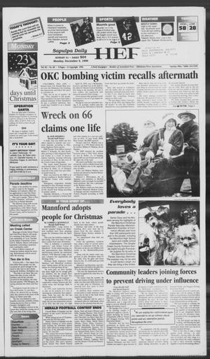 Primary view of Sapulpa Daily Herald (Sapulpa, Okla.), Vol. 82, No. 68, Ed. 1 Monday, December 2, 1996
