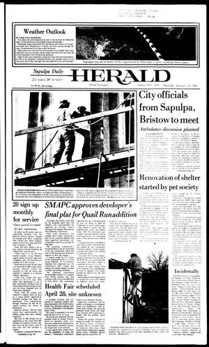 Primary view of Sapulpa Daily Herald (Sapulpa, Okla.), Vol. 68, No. 116, Ed. 1 Thursday, January 28, 1982