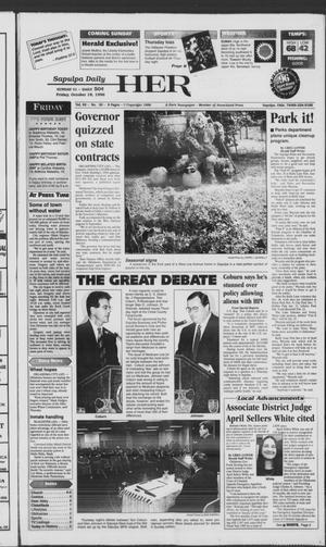 Primary view of Sapulpa Daily Herald (Sapulpa, Okla.), Vol. 82, No. 30, Ed. 1 Friday, October 18, 1996