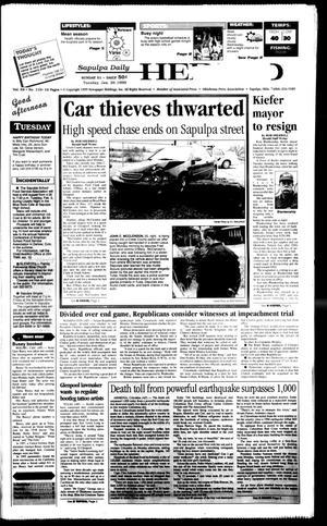 Primary view of Sapulpa Daily Herald (Sapulpa, Okla.), Vol. 84, No. 115, Ed. 1 Tuesday, January 26, 1999