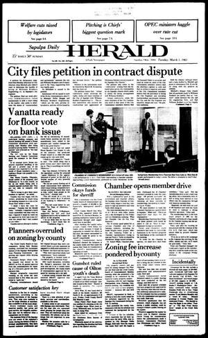 Primary view of Sapulpa Daily Herald (Sapulpa, Okla.), Vol. 69, No. 145, Ed. 1 Tuesday, March 1, 1983