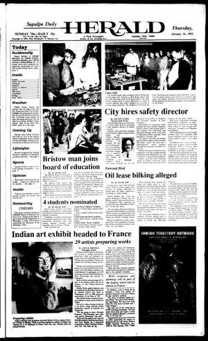 Primary view of Sapulpa Daily Herald (Sapulpa, Okla.), Vol. 78, No. 106, Ed. 1 Thursday, January 16, 1992