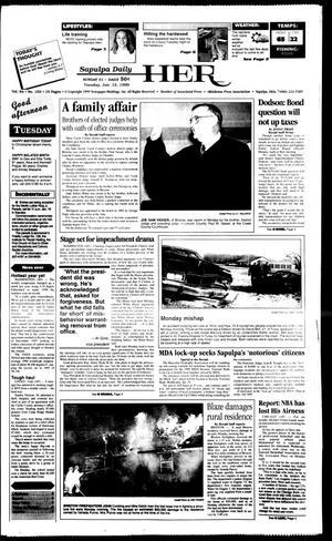 Primary view of Sapulpa Daily Herald (Sapulpa, Okla.), Vol. 84, No. 103, Ed. 1 Tuesday, January 12, 1999