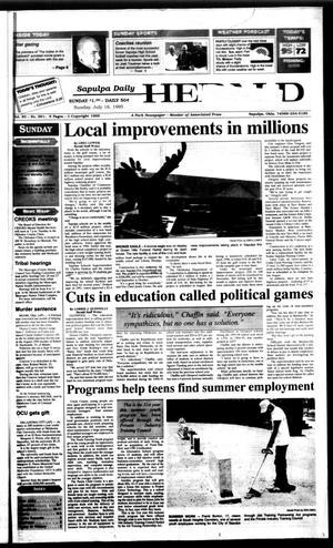 Primary view of Sapulpa Daily Herald (Sapulpa, Okla.), Vol. 81, No. 261, Ed. 1 Sunday, July 16, 1995