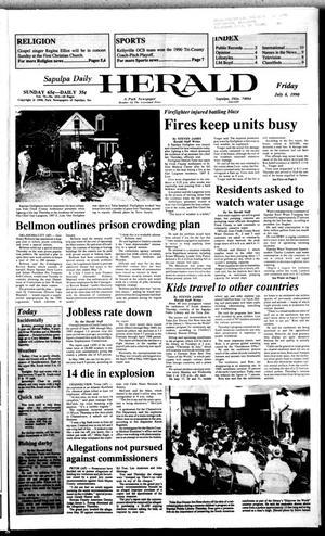 Primary view of Sapulpa Daily Herald (Sapulpa, Okla.), Vol. 76, No. 253, Ed. 1 Friday, July 6, 1990
