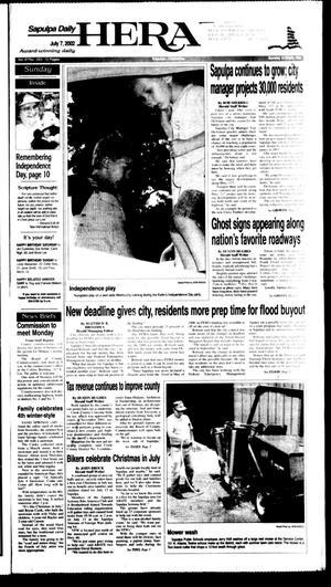 Primary view of Sapulpa Daily Herald (Sapulpa, Okla.), Vol. 87, No. 253, Ed. 1 Sunday, July 7, 2002