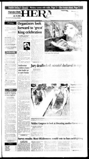 Primary view of Sapulpa Daily Herald (Sapulpa, Okla.), Vol. 87, No. 109, Ed. 1 Friday, January 18, 2002