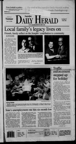 Primary view of Sapulpa Daily Herald (Sapulpa, Okla.), Vol. 92, No. 11, Ed. 1 Thursday, November 23, 2006