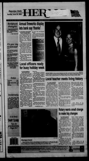 Primary view of Sapulpa Daily Herald (Sapulpa, Okla.), Vol. 88, No. 240, Ed. 1 Sunday, June 29, 2003