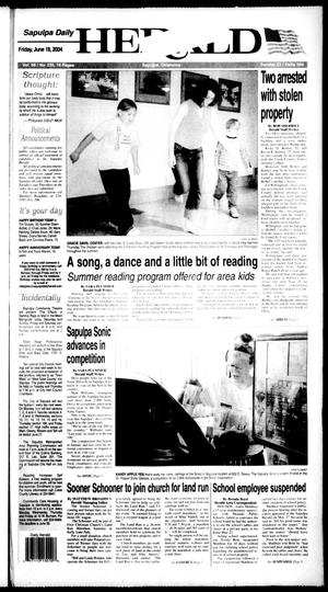 Primary view of Sapulpa Daily Herald (Sapulpa, Okla.), Vol. 89, No. 235, Ed. 1 Friday, June 18, 2004