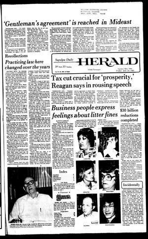 Primary view of Sapulpa Daily Herald (Sapulpa, Okla.), Vol. 67, No. 268, Ed. 1 Friday, July 24, 1981