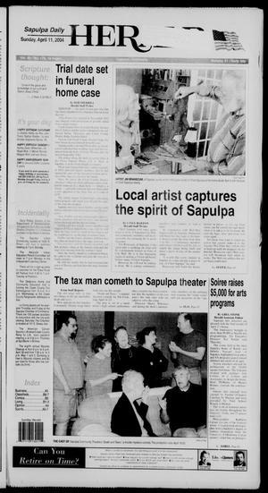 Primary view of Sapulpa Daily Herald (Sapulpa, Okla.), Vol. 89, No. 176, Ed. 1 Sunday, April 11, 2004
