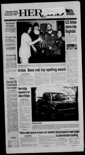 Primary view of Sapulpa Daily Herald (Sapulpa, Okla.), Vol. 88, No. 152, Ed. 1 Monday, April 7, 2003